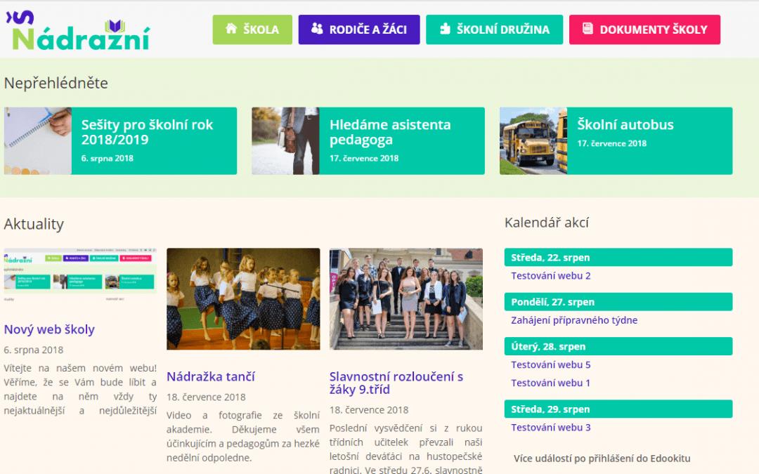 Nový web školy