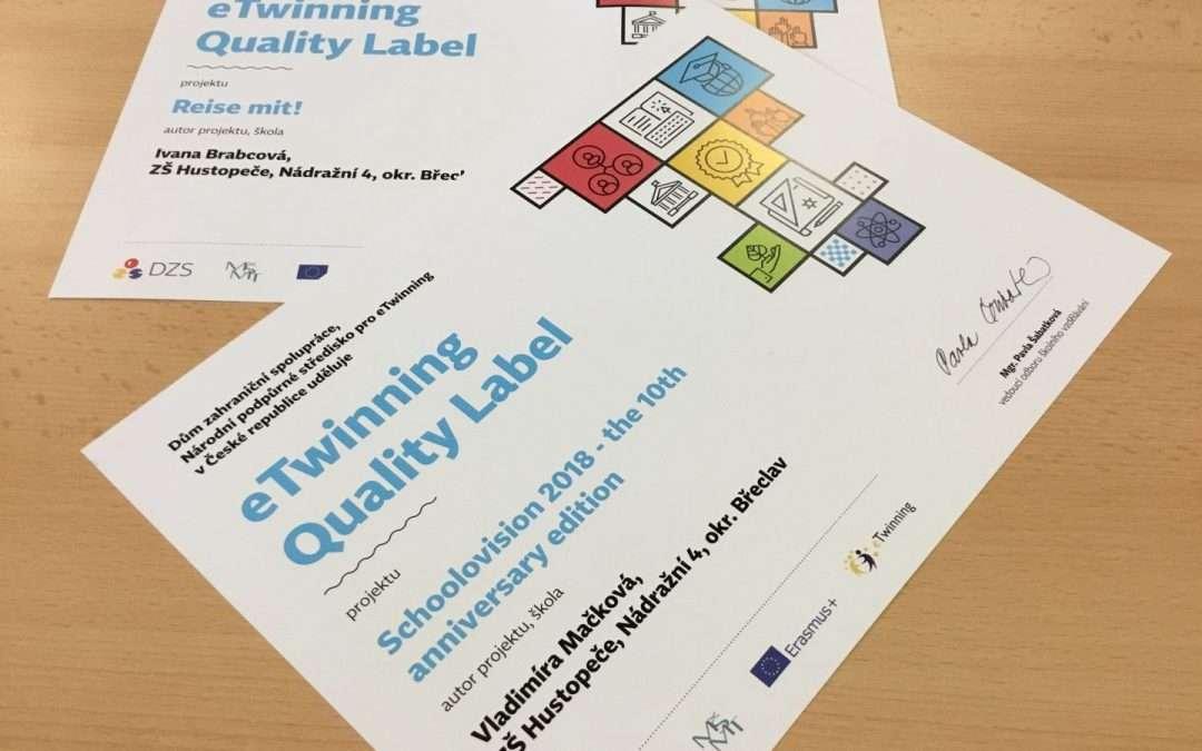 Evropské ocenění kvality pro naše mezinárodní projekty