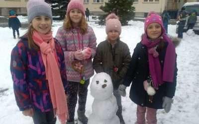 Bílá zima ve školní družině