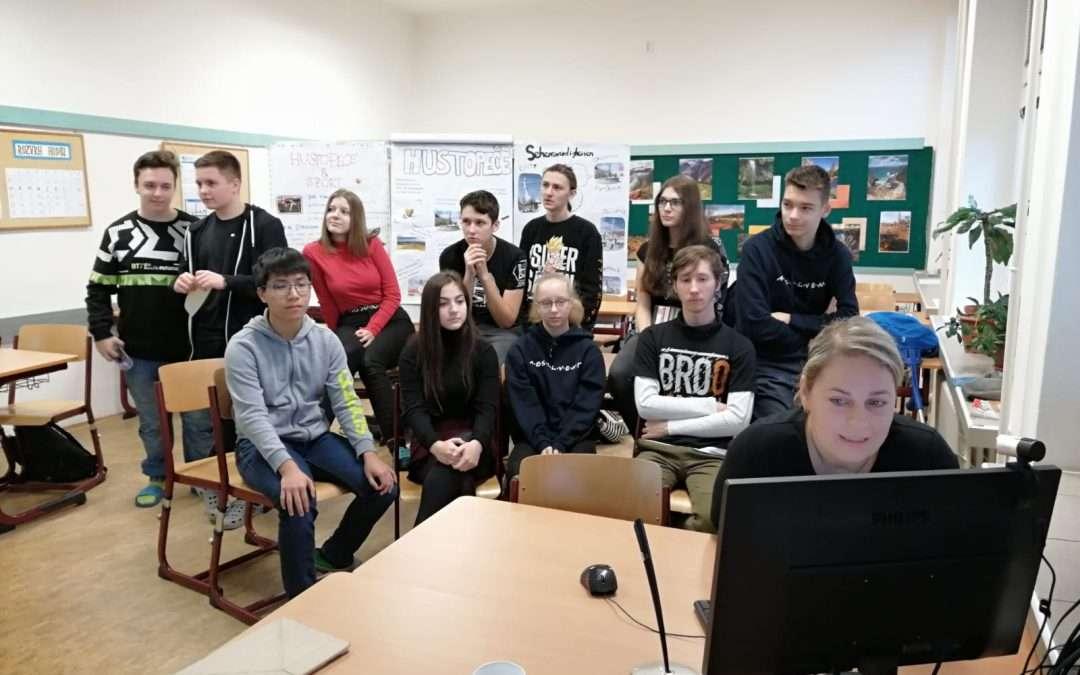 První online hodina němčiny s žáky z italské Adrie